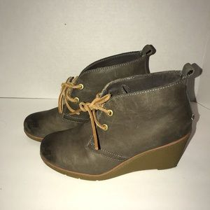 Sperry Women Harlow Burnished Leather Wedge Bootie